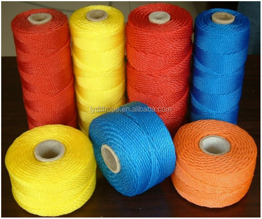 Polyster/pp/nylon Alibaba supplier cheapest recycled polyester plastic rope twine for fishing net