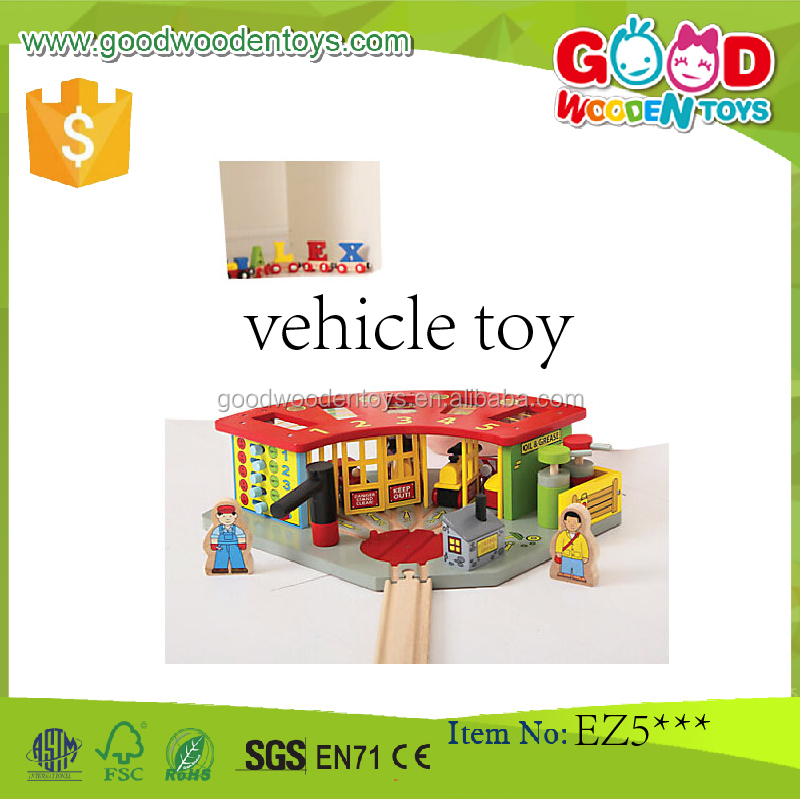 DIY Toy Boy's Role Play Train Engine Shed Wooden Railway Sets