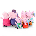 Genuine Peppa Pig family Plush Toys Peppa George Pig Family Toys For Children Hobbies Dolls Stuffed