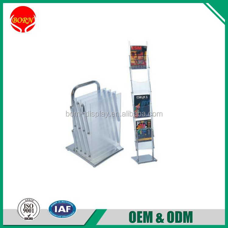 Factory Direct Sale Christmas use ABS Tray Stand Brochure Size Literature Holder