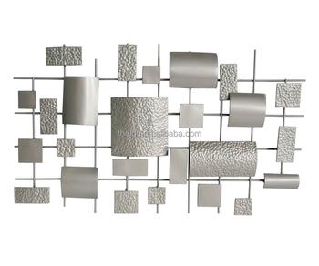 Modern home decor silver wall decor metal buy silver for Modern silver home accessories