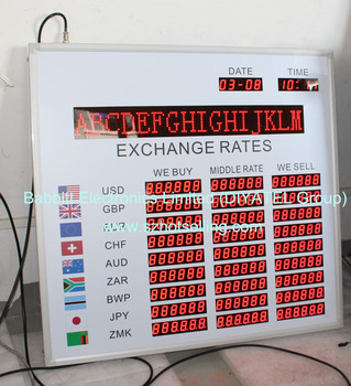 Led Digital Forex Currency Exchange Rate Board Foreign Indoor Display For
