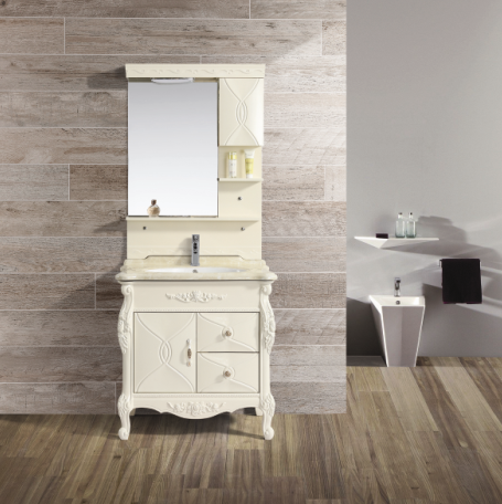PVC Luxury Sanitary Ware Importers Unfinished Wood Bathroom Cabinets