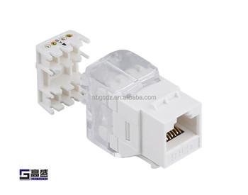 Network Telecom Ethernet Cat 6 AMP Toolless RJ45 Connector Plug