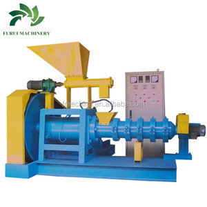 Large capacity cold feed rubber extruder/fish feed extruder