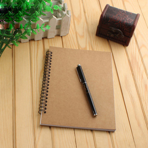 Spiral business a5 notebook simple student blank page notebook for sale