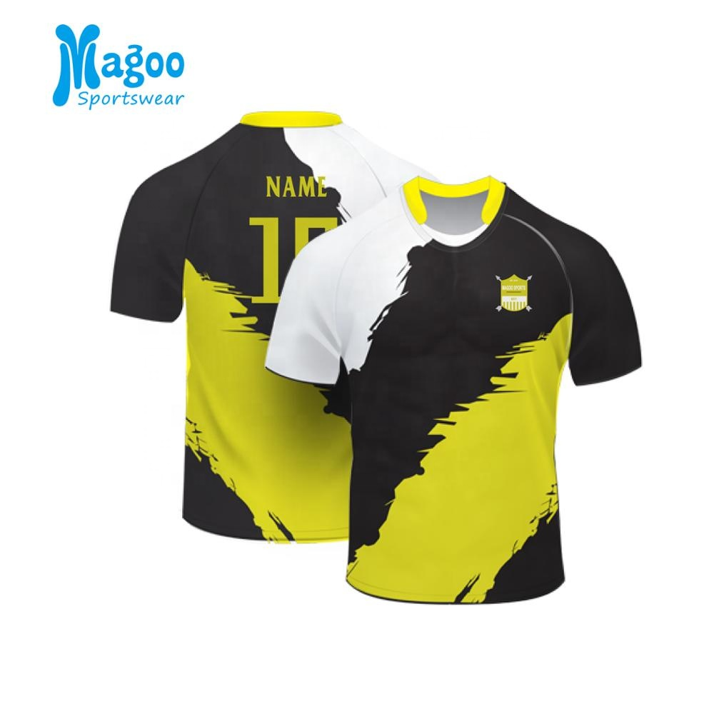 100% Polyester Rugby Football Jersey, Sublimated Rugby Set фото