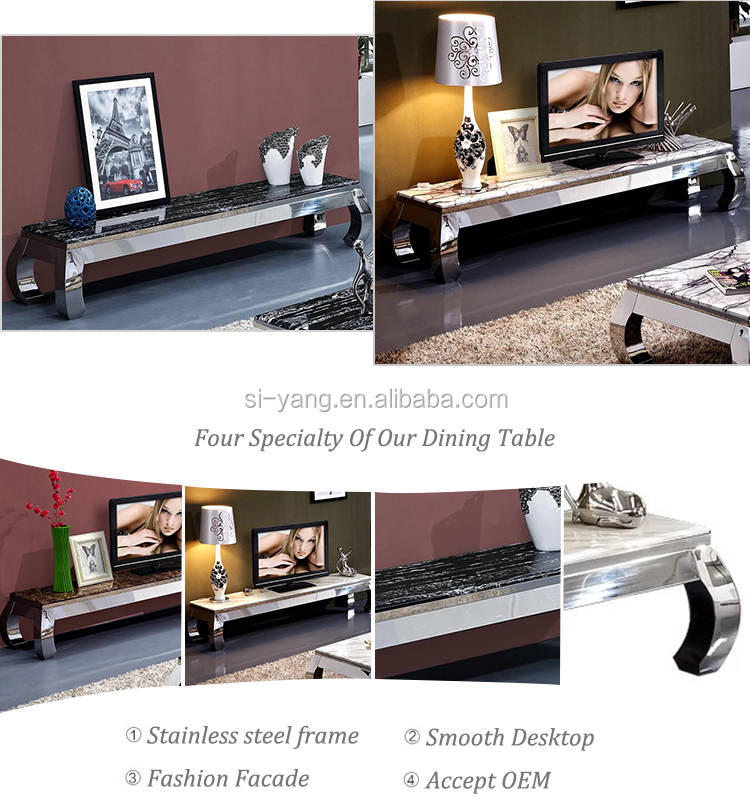new model laminate cheap lcd tv lift cabinet tv stand with stone top ds006