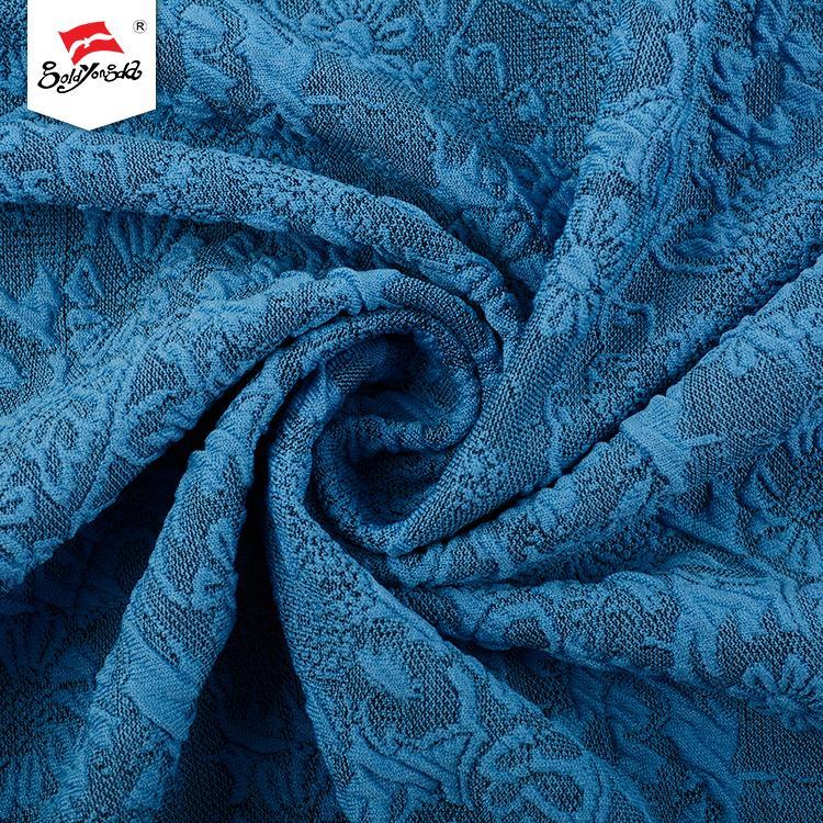 Latest design different design popular plain knitting jacquard fabric for dress