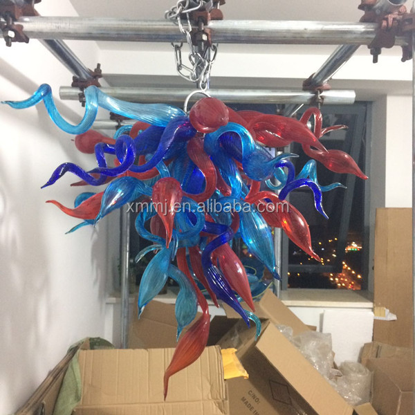 Modern cheap hand blown art multi colored chihuli murano style glass chandelier