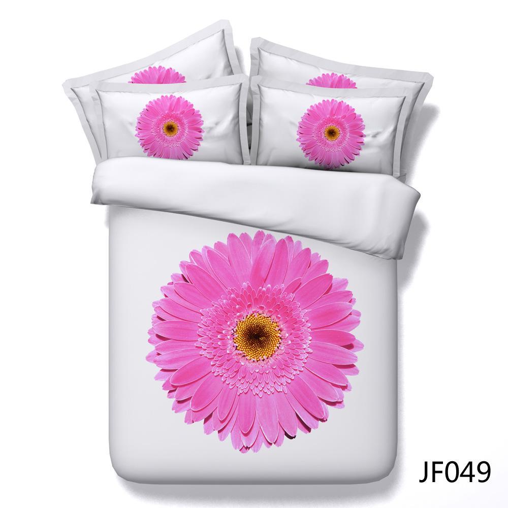 Single pink daisy flower 3d hd digital print bed set buy bed sheet single pink daisy flower 3d hd digital print bed set buy bed sheetbed set luxurybedroom set product on alibaba mightylinksfo