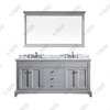 72inch special design double sinks grey transitional Bathroom Vanity, Bathroom Cabinet