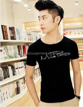 printed100% cotton 2017 new fashion hot sale men t shirt