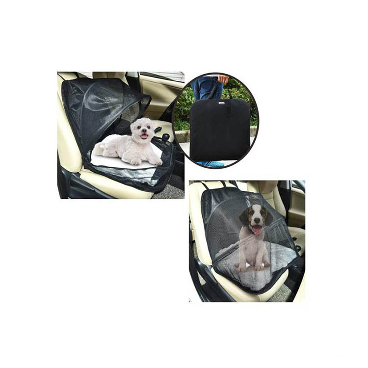 Groothandel Fabrikant Grote Zwarte Waterdichte Opvouwbare Hond Autostoel Cover, Wasbare Carrier Pet Car Seat Cover