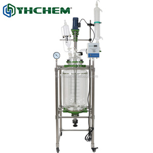 50L Industrial jacketed glass batch reactor