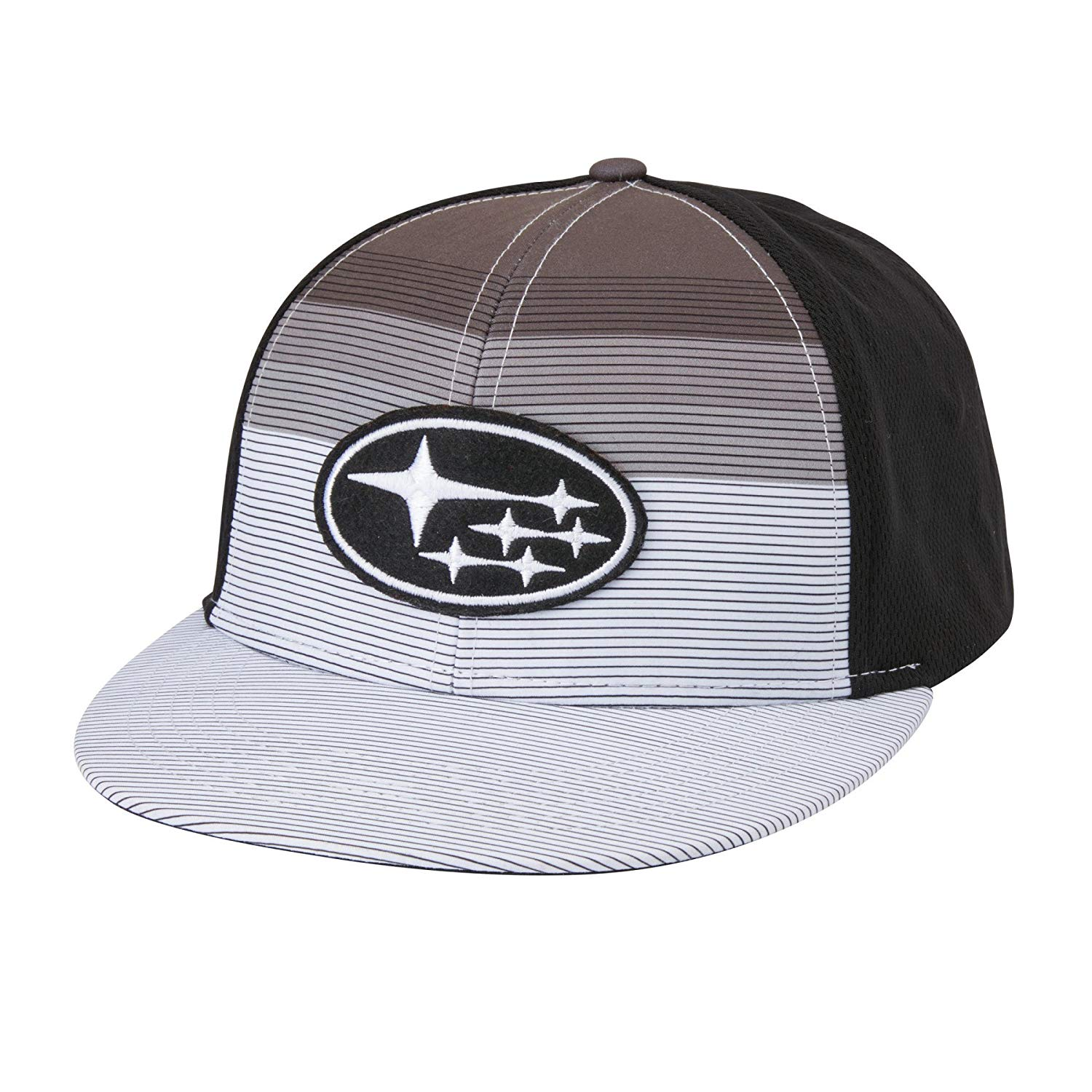 Get Quotations · Subaru Black and White Flatbill Cap Legacy Forester  Impreza Outback STI WRX Hat 60eec719bf30