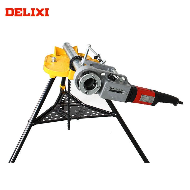 """DELIXI DLX30-2B 1/2 """"Đến 2"""" 1200-1350 wát Đường Ống Dẫn Nước Các Công Cụ Cầm Tay Điện Ống Threading Machine"""