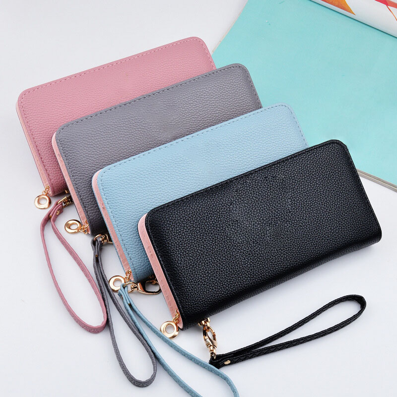 Wallets Women Purses Zipper Long Coin Money Bags Card Holders Clutch Wristlet Phone Female