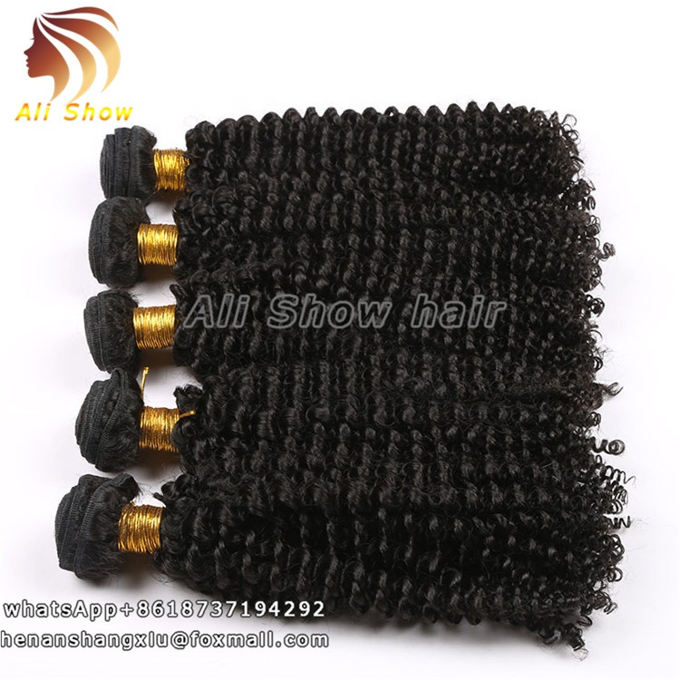 Raw Indian Curly Human Hair Weaving 8-30inch Virgin Brazilian Jerry Curl Hair Weave Human Hair Extensions, Natural black color;t27;t30;tbug;t613
