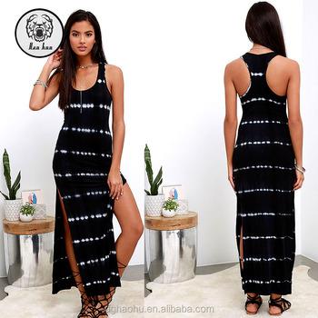 Spilt Maxi Villa Black Tie Dye Maxi Dress In Navy Floral Buy Spilt
