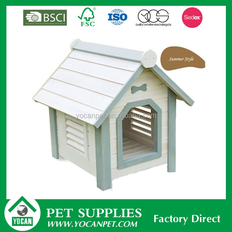 New style YOCAN outdoor painted wooden dog house