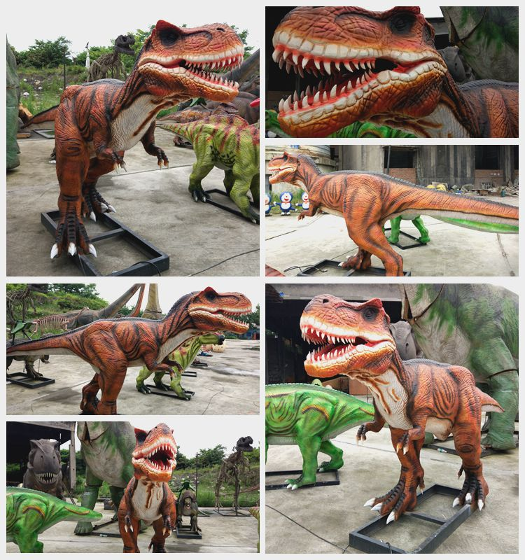 KAWAH realistic silicon rubber lifesize dinosaur T-rex models for sale