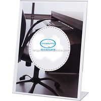 Office Custom Size Plexiglass Desk Display Menu Rack 8.5 x 11 Inches Slant Back Thick Clear Sign Holder Ad Frame Acrylic Lucite