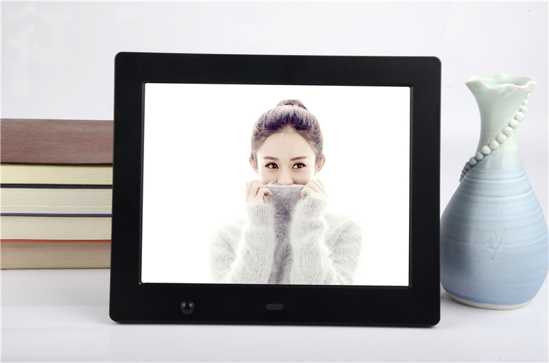 8 inch human body sensor Black Digital Photo Frame