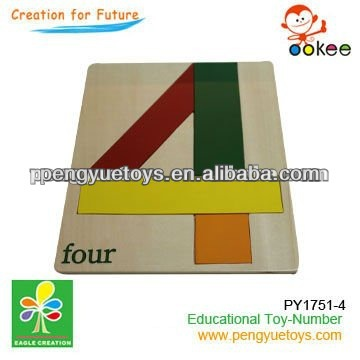 Arabic number wooden toy