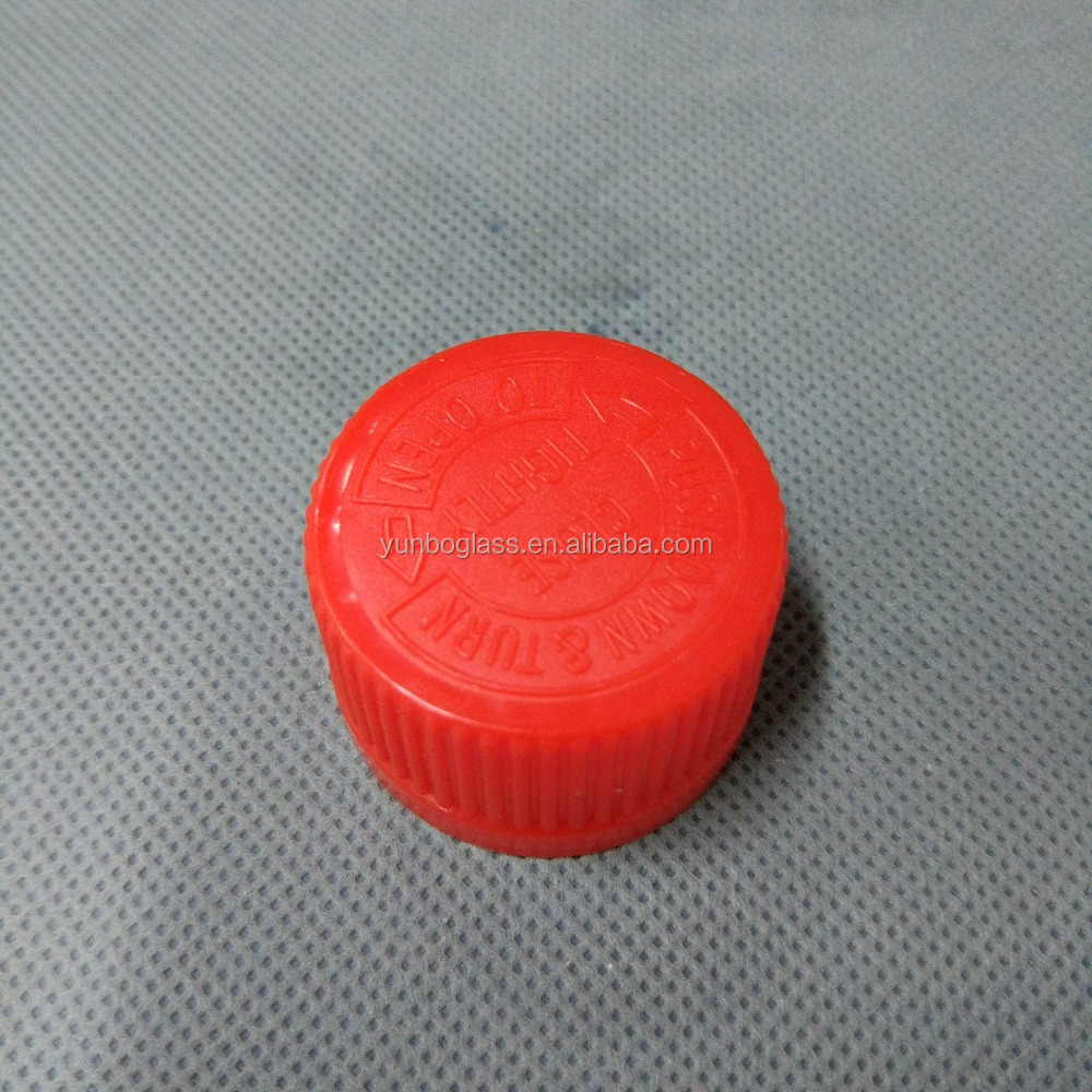 28mm plastic red childproof lid , twist lock cover, child resistant CRC cap
