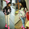 2016 fashion baby girl clothes autumn winter baby girls jackets print girls active outwear casual jacket