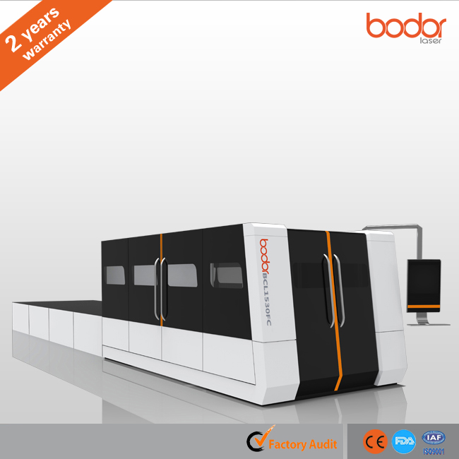 Safety oriented sheet metal fiber laser cutting cnc machine