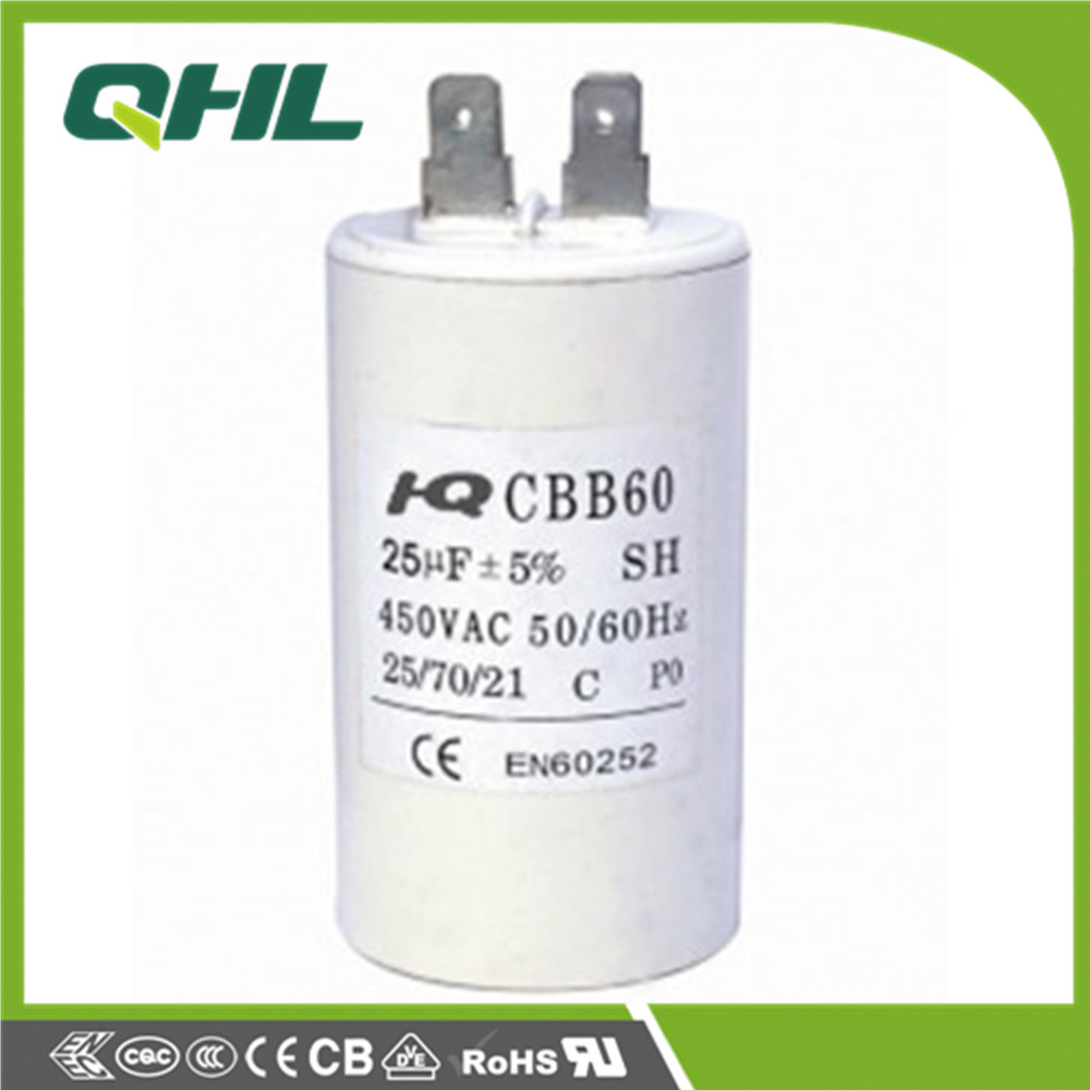 CBB60 Metallized polypropylene film AC motor capacitor,power-driven machine