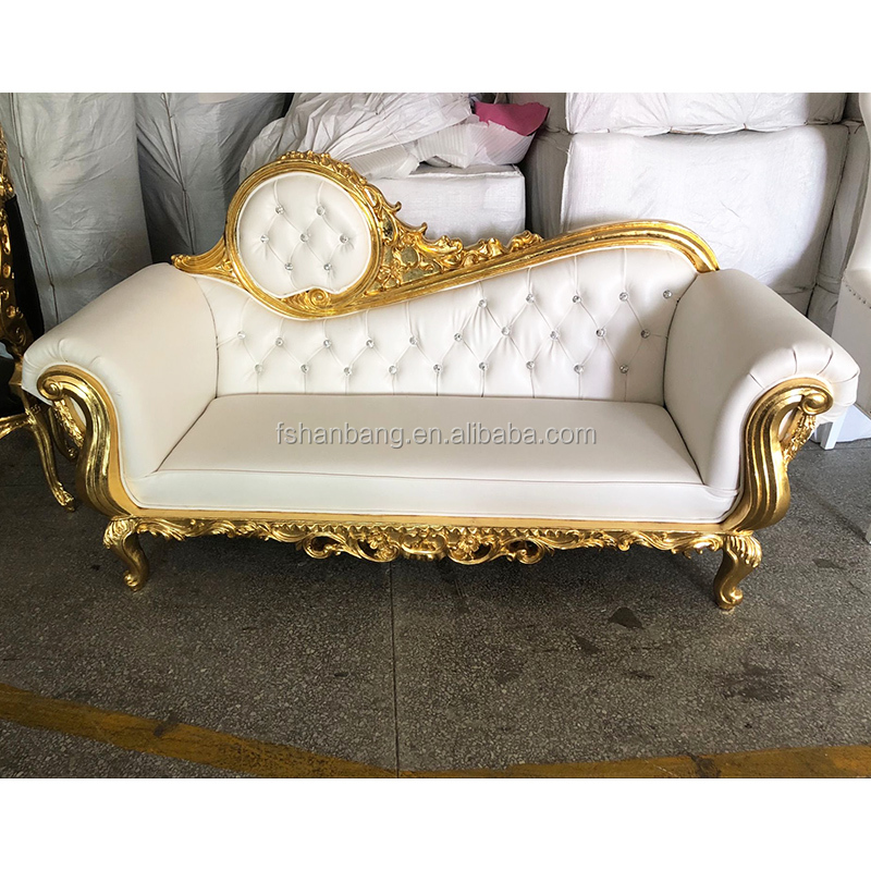 Ry006 Luxury Royal Style Golden Silver Sofa Set Furniture For Wedding