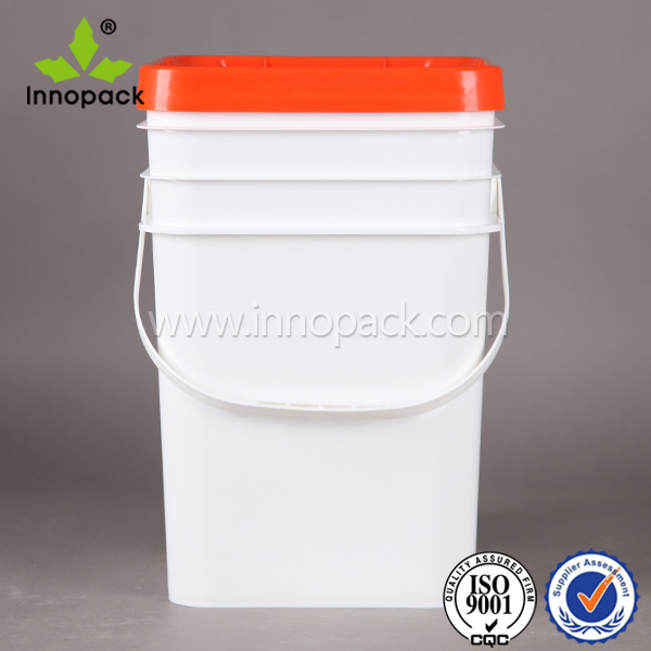 clear plastic paint square bucket 20L with handle and lid price