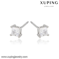 21000-xuping fashion high quality ltalian jewelry silver hanging diamond oin earring classic design