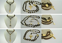 2016 Wholesale bling stainless steel rosary necklaces