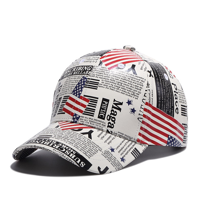 Europe and America Retro Map Design Snapback Bone Hats PU Leather Baseball <strong>Cap</strong> for Men or Women