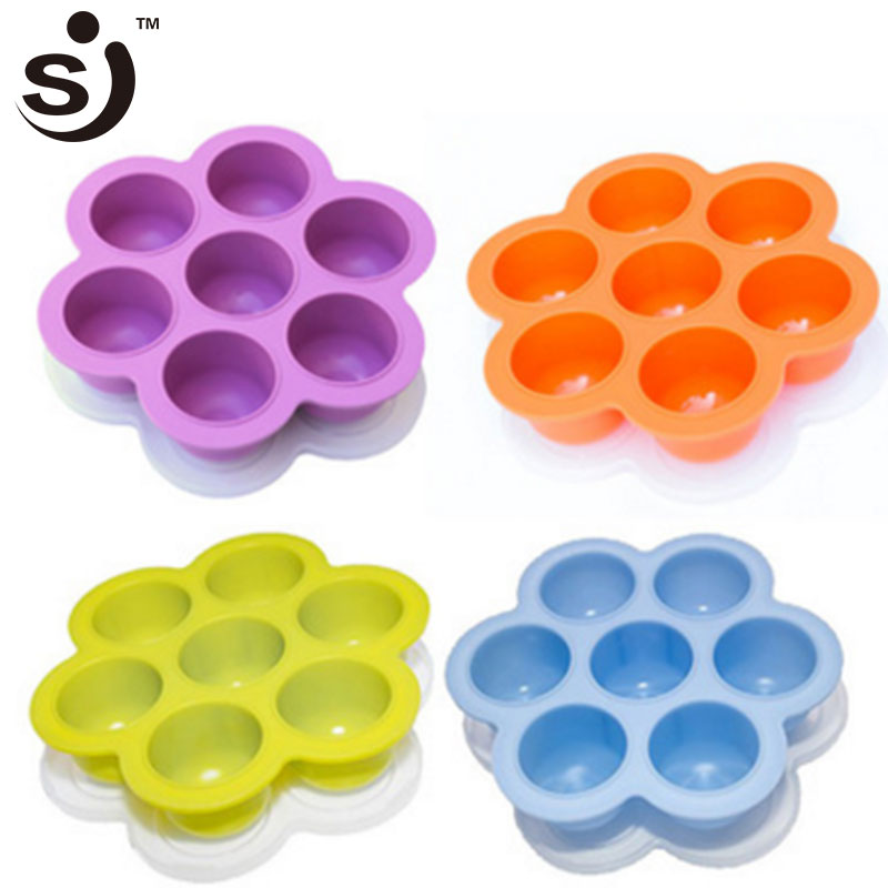 Amazon Hot Selling 7 holes Silicone Egg Bites Mold for Infant Fits Instant Pot 5,6,8 qt Pressure Cooker With Lid