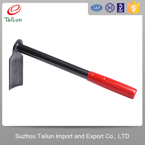 Digging hoe/High Quality A3 Steel Weed Hoe Types With PVC Grip Handle