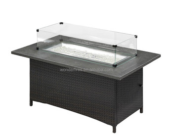 High End Rectangle Propane Backyard Fire Pit Outdoor Gas Firepits Table