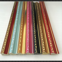 colorful embossing ps photo frame moulding/painting frame profile/mirrior frame line