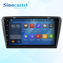 Best HD Car DVR GPS Navigation System With Canbus Bluetooth 3G Dongle for Skoda Octavia 2015