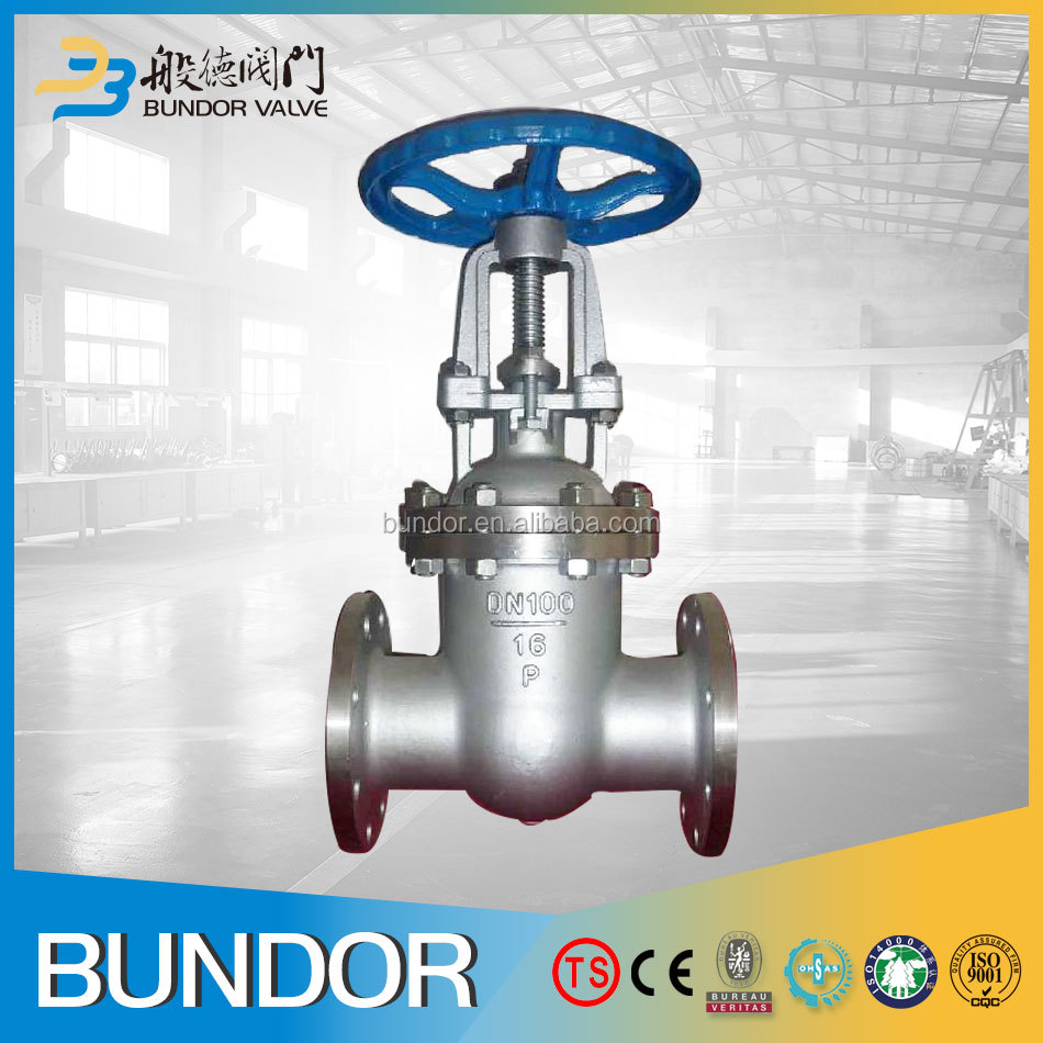 Stainless Steel SS304 SS316 Stem Plain Class300 4 Inch Water Gate Valve