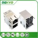 DGKYD21B094DB2A10D dual ports rj45 connector with magnetics