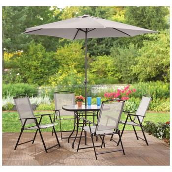 Tables And Chairs With Outdoor Umbrella
