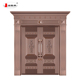 modern house front door design double leaf Entry Doors Copper Brown Metal Doors
