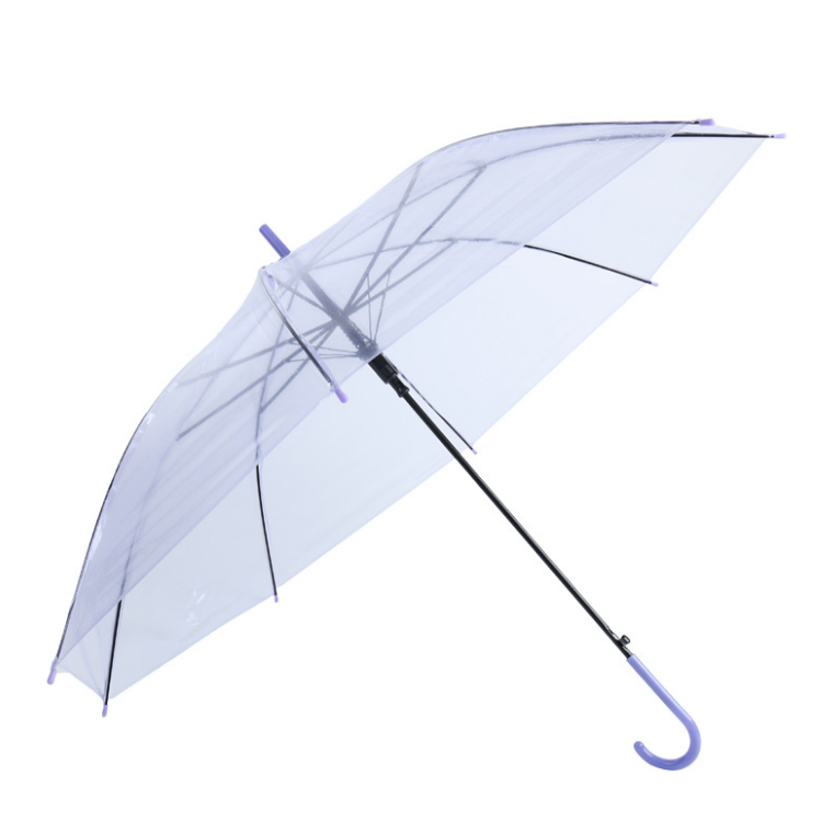 PEVA unsex bumbershoot rain and sun shade transparent straight umbrella