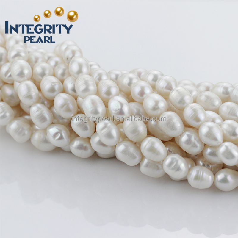 natural orange color 12mm B rice real freshwater pearl strand wholesale