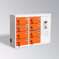 High power display 8 port usb charger, box locker cell phone charging station